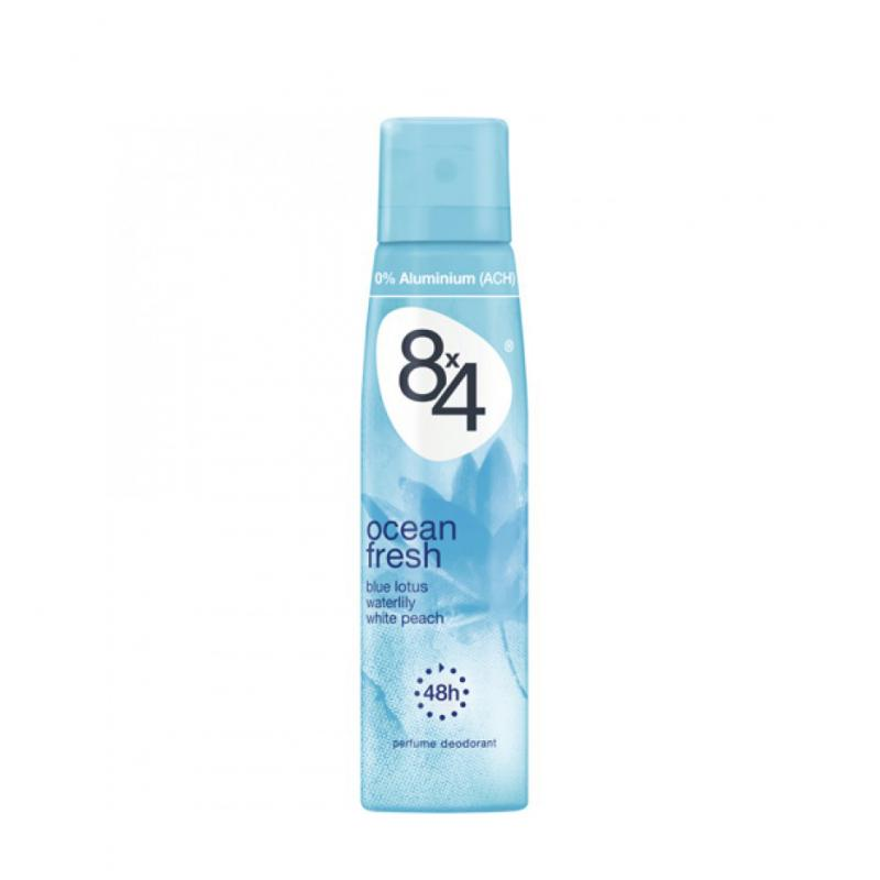 8X4 OCEAN FRESH DEO SPRAY FEMME 48HS 150ML